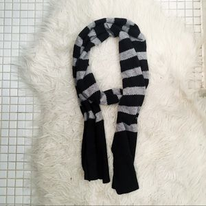 J Crew Cashmere and Wool Blend Striped Scarf